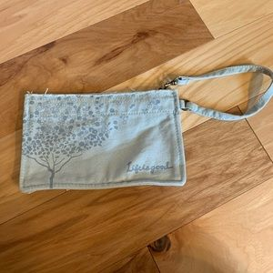 Good Karma by life is good zipped cotton pouch